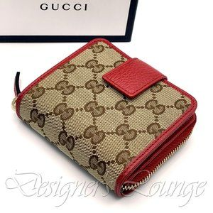NIB GUCCI GG Canvas French Zip Around Wallet